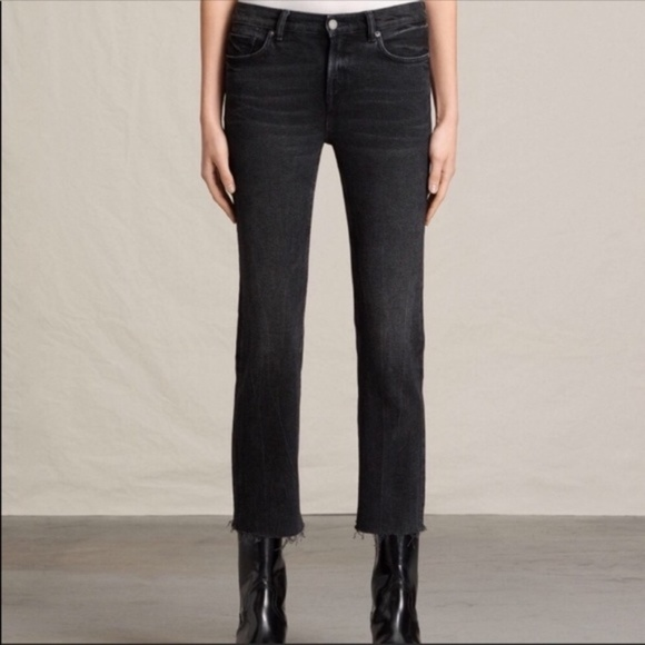 huge sale large discount classic fit All Saints Zoe Cropped Bootcut Jean Size 25 NWT